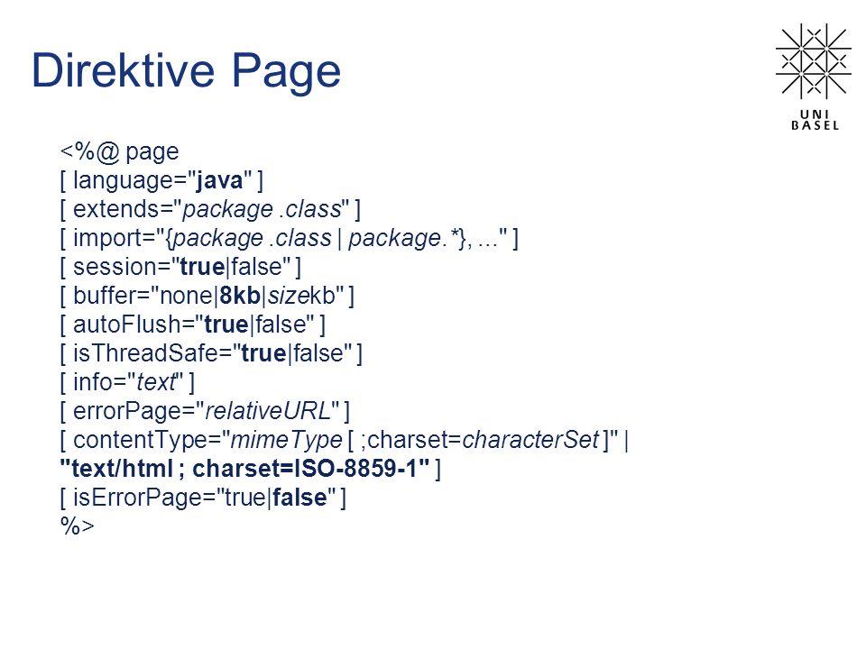 Direktive Page <%@ page [ language= java ]